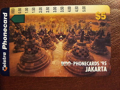 Mint $5 Jakarta Indo-Phonecards '95 Phonecard Prefix 1071 Only 2000 Issued