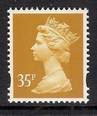 GB 1993 sg Y1698 35p Yellow photogravure 2 bands MNH ex Y1692