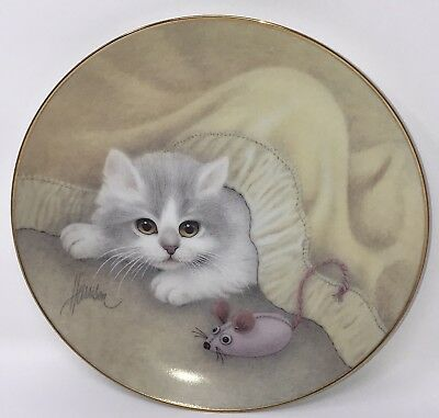 Hamilton Collection Bob Harrison Curious Kittens Plate Playing Cat Mouse 1991