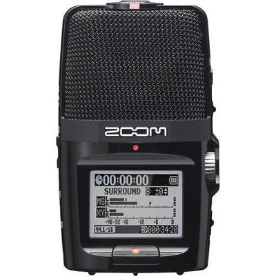 Zoom H2n w/ case, 8G SD Card and 2 AA batteries