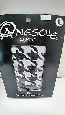 NEW Onesole TOP Size L Interchangeable  Black and White Houndstooth new in box