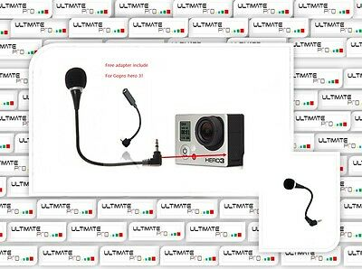 Microphone kit compatible GOPRO hero 3 black silver + plus accessory adapter gb