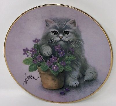 Hamilton Collection Bob Harrison Curious Kittens Plate A Paw's In The Action