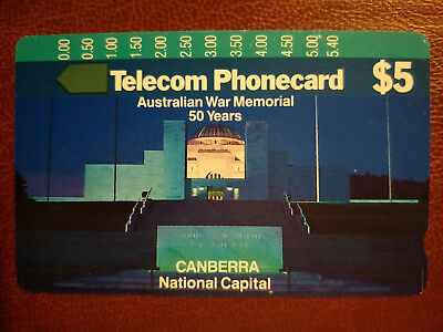 Mint $5 Australian War Memorial Phonecard Prefix 98