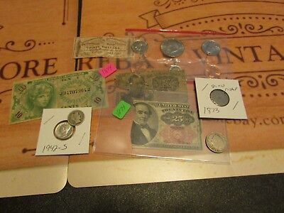 Collection Of Old U.s. Coins And Currency  Set#10