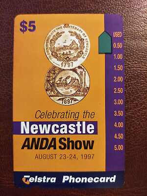 Mint $5 Newcastle ANDA Show 1997 Phonecard Prefix 1523