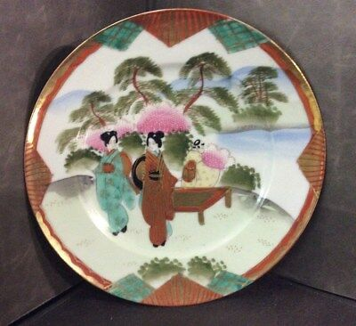 Antique Te-oh Hand Painted China Nippon Signed Plate 8.5 wide