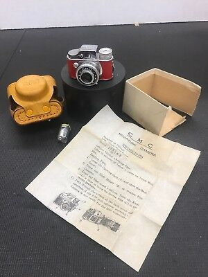 vintage miniature spy camera C.M.C With Instructions And Carrying Case