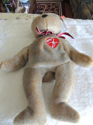 TY Original Beanie Baby~1999 Signature Bear~The Beanie Babies Collection