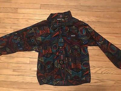 *EXTREMELY RARE* Patagonia vintage 1980's Aztec Snap T Fleece - Size Large