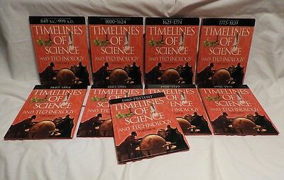 Timelines of Science & Technology  Lot of 9 . Grolier / Scholastic