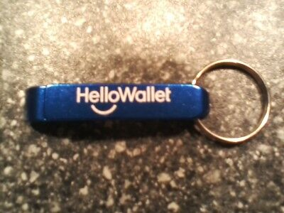 New ultra – lightweight metal HelloWallet combination key chain / bottle opener!