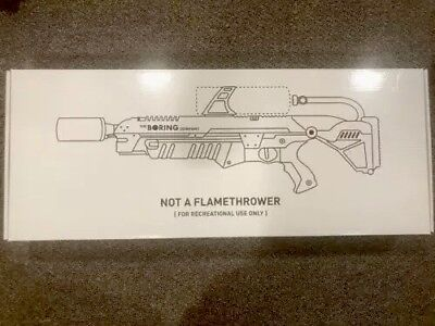 The Boring Company Not A Flamethrower  Brand New Limited Edition Collectors Item