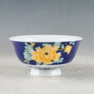 Chinese Porcelain Handmade Flowers Bowls Made During The Qianlong PeriodXPZ013+b