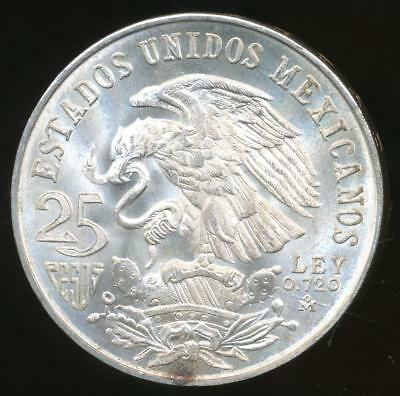 Mexico, 1968(Mo) 25 Pesos (Silver) - Choice Uncirculated