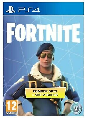 Fortnite Bomber Skin + 500 V Bucks (Playstation 4) Digital download EU