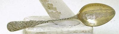 Vintage Sterling Silver Indian Chief Seattle Olympic Range Small Souvenir Spoon