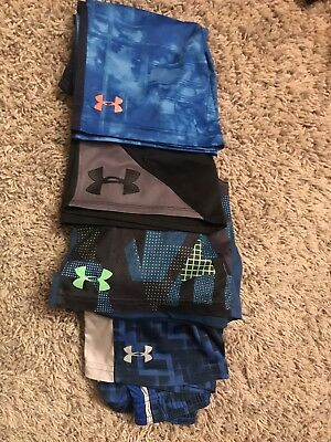 Boys Under Armour - Lot of 4 Shorts, Sizes 6/7-YSM.