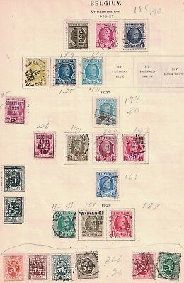 Belgium Old Lot Of 64. Mixed Condition.   #02 BELG64
