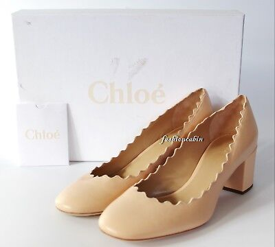 02bee8f2889b NEW CHLOÉ LAUREN Scalloped Leather Pump