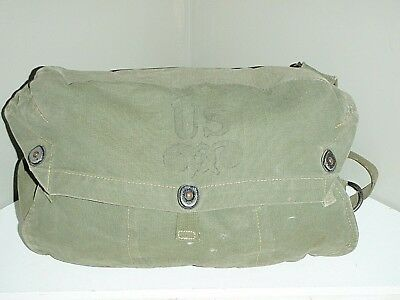 WWII US Army M6 Lightweight Service Gas Mask Canvas Bag TRAINING ONLY