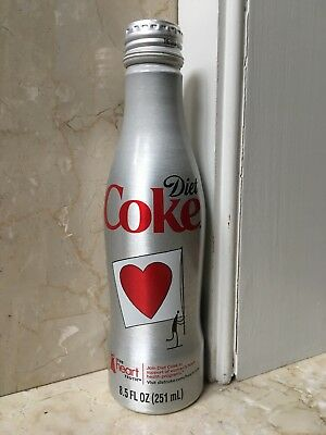 Coca Cola Diet Coke Heart Health aluminum bottle USA 2011 full with cap