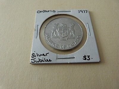 Ontario Silver Jubilee Trade Dollar 1977  Lot 171-H