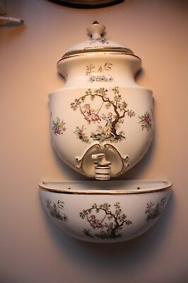 Andrea Hand Painted 3-Piece Wall Fountain Vintage Lavabo Hand Painted 7053 Japan
