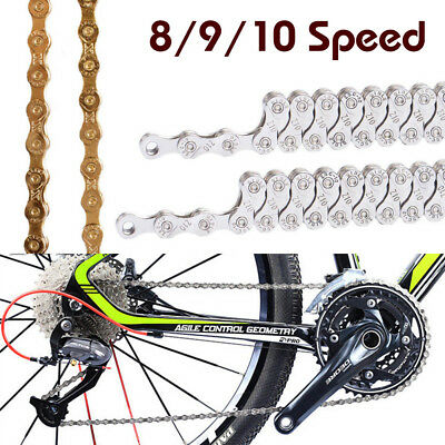 Bike Bicycle Chain 8/9/10 Speed MTB Road Hybrid Cycling Plating Steel Chain