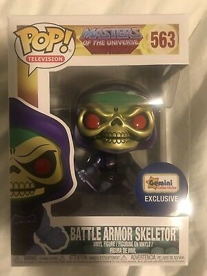 Funko Pop Gemini Exclusive Metallic Battle Armor Skeletor Mint Condition New