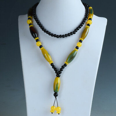 100% Natural Agate Handwork Beads Necklace RX048+a