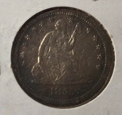 1855-S Seated Quarter - XF+ Details - PCGS Guide XF=$850   AU=$1,450!!  SALE!!
