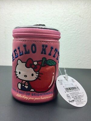 """Authentic Japan Sanrio Hello Kitty 4"""" Faux Leather Soda Can Coin Purse NWT RARE"""