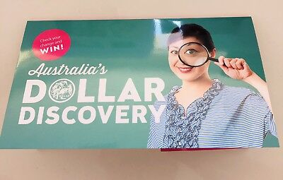 Australian 2019 $1 Discovery Coins, One Dollar A/U/S Set + Folder and Magnifier