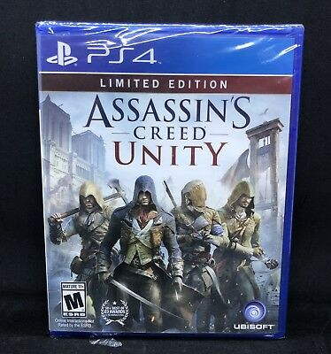 NEW Assassins Creed Unity - Limited Edition - PlayStation 4 Ps4 Games Sony