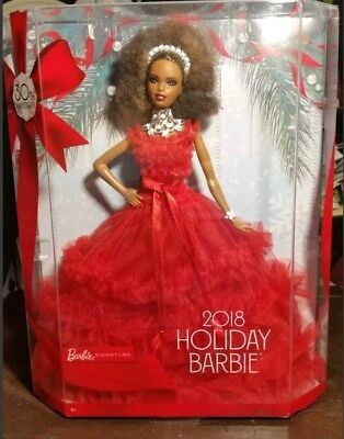 Barbie 2018 Holiday Signature Collector Doll African American Black Nikki