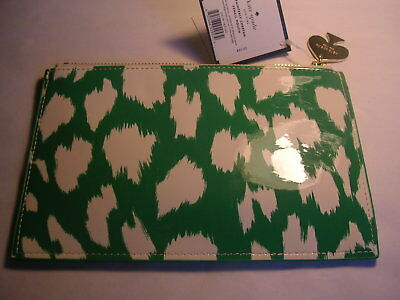 Kate Spade New York Painterly Cheetah Pencil Pouch & Notebook New With Tags