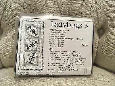 Ladybugs - Quilted wallhanging kit