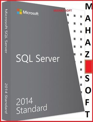 MSFT SQL SERVER 2014 Standard Edition Product Key Code 64 BITS +CHEAP RETAIL