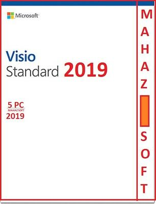 Visio Standard 2019 + 5 Pc License + Esd + Full Latest Product Key + 32/64 Bits