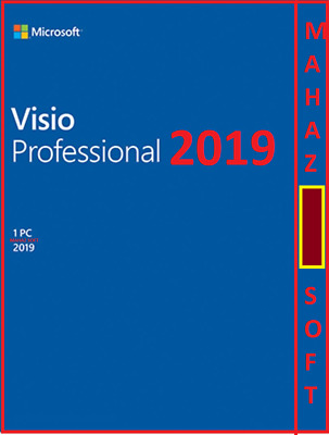 Msft Visio Professional 2019 + 1 Pc + 32/64 Bit + Esd + Genuine Product Key Code