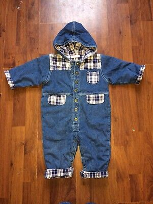 Vintage Baby All In One Snowsuit 1990s Aged 9-12 Months Retro