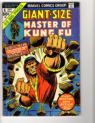 Giant-Size Master of Kung Fu #1 (9/74) G/VG (3.0)  Great Bronze Age!