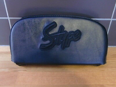 Embroided S Type Black Back Rest Cover (Purse Style) Lambretta