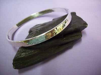 LADIES SILVER BANGLE,  HAMMERED EFFECT 25g