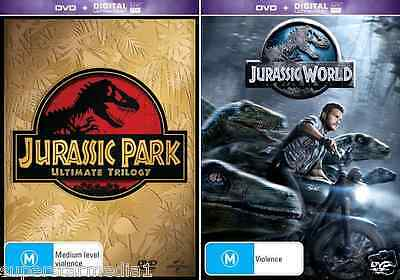 Jurassic Park Trilogy + Jurassic World : Complete Collection : NEW DVD