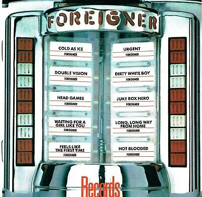 (CD) Foreigner - Records - Urgent, Juke Box Hero, Dirty White Boy, Cold as Ice