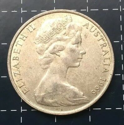 1966 Australian Round 50 Cent Coin - 80% Silver Rounded Fifty Cent *3