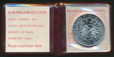 Australia 1982 $10 Sterling Silver UNC XII Commonwealth Games