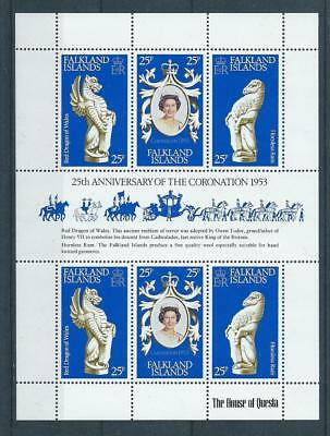 Falkland Islands SG348a 1978 25th Anniversary of the Coronation Unhinged Mint